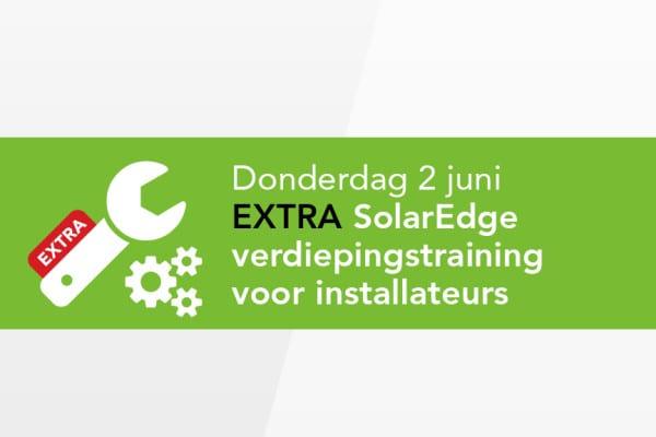 Extra SolarEdge Training op 2 juni 2016