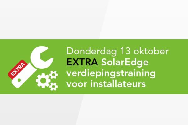 Extra SolarEdge Training op 13 oktober 2016