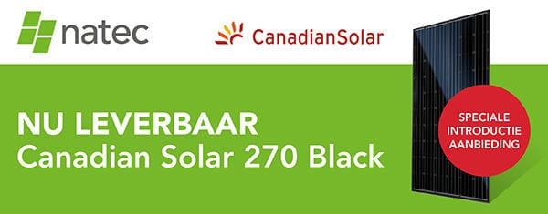 Nu leverbaar: Canadian Solar 270 Black