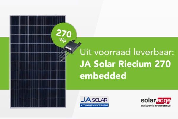 NIEUW:  JA Solar Riecium 270 embedded