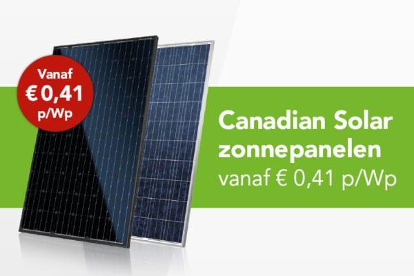 Canadian Solar vanaf € 0,41 p/Wp