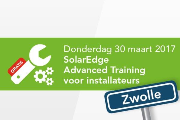 SolarEdge Training – 30 maart 2017