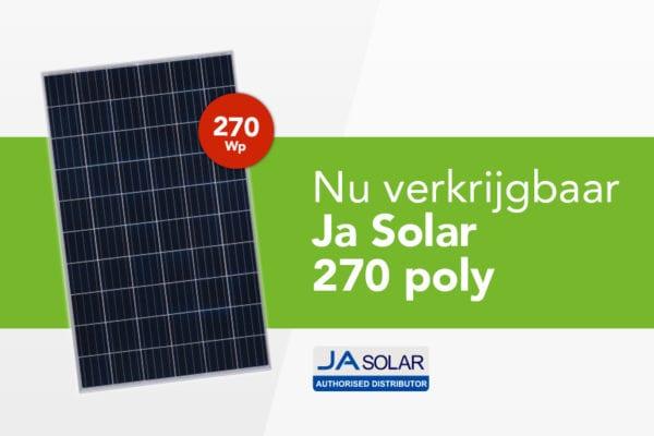 NIEUW: JA Solar 270 Poly