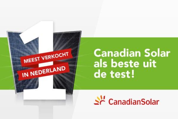 #1 Module fabrikant: Canadian Solar