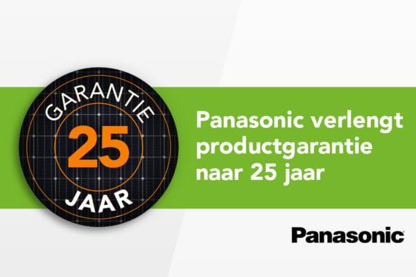 Panasonic verlengt productgarantie naar 25 jaar