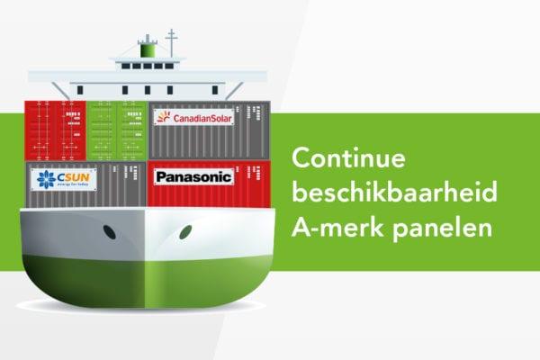 Continue beschikbaarheid A-merk panelen