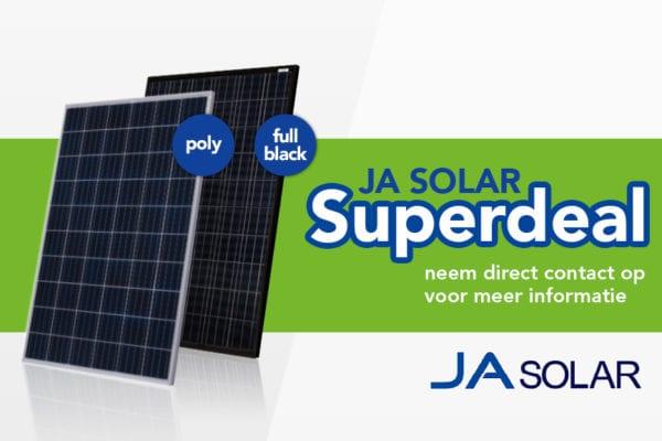 Superdeal: JA Solar Poly en Full Black hoog vermogen