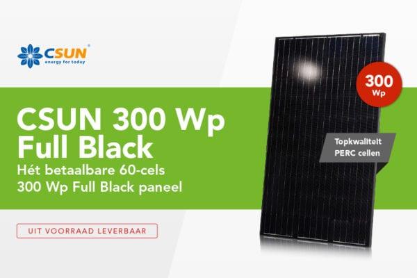 Ontdek de CSUN 300 Wp Full Black