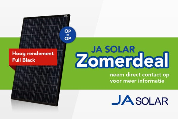 Zomerdeal: JA Solar hoog rendement Full Black