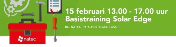 SolarEdge Basis training 15 februari