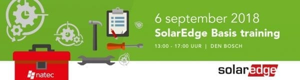 SolarEdge Basis training 6 september, schrijf je direct in