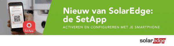 Nieuw van SolarEdge: de SetApp